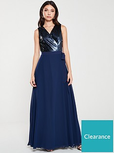 little-mistress-sequin-maxi-wrap-dress-navy