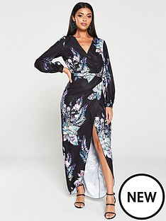 little-mistress-oriental-floral-wrap-dress-multi