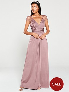 little-mistress-beaded-mesh-trim-maxi-dress-mink