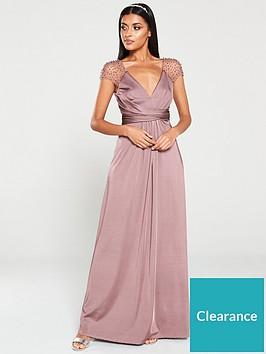 little-mistress-beaded-mesh-trim-maxi-dress-mink