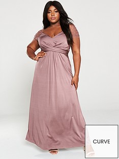 little-mistress-curve-slinky-mesh-trim-stretch-maxi-dress-mink