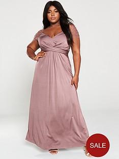 little-mistress-curve-slinky-mesh-trim-stretch-maxi-dress-mink
