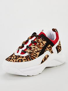 kurt-geiger-london-lunar-trainers-red-multi