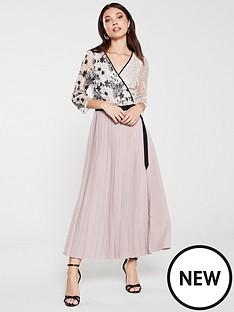 little-mistress-vintage-lace-and-sequin-midi-wrap-dress-multi