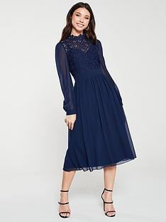 little-mistress-crochet-lace-long-sleeve-midi-dress-navy