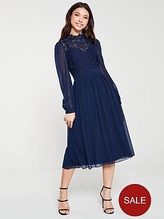 little-mistress-crochet-lace-long-sleeve-midi-dress-navy
