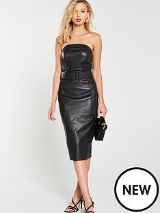 v-by-very-belted-leather-midi-dress-black