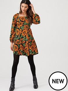 v-by-very-square-neck-skater-dress-print