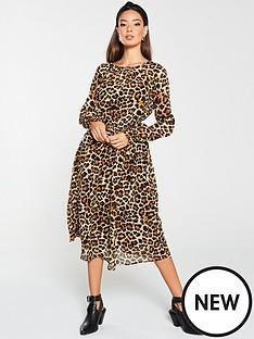 v-by-very-shirred-waist-midi-dress-print