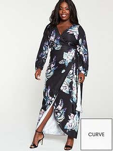 little-mistress-curve-black-floral-long-sleeve-maxi-dress-multi