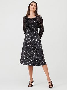v-by-very-mixed-print-midi-dress-print