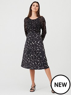 v-by-very-mixed-print-midi-dress-print