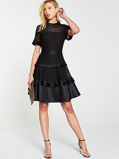 v-by-very-tiered-lace-skater-dress-black