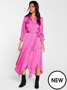 v-by-very-jacquard-shirt-midi-dress-pink
