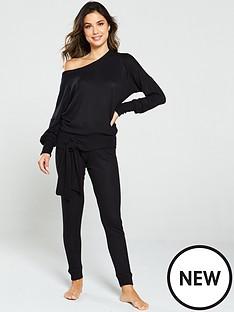 v-by-very-tie-hem-knit-look-jumper-black