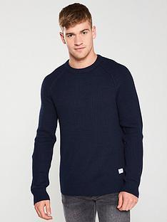 jack-jones-pannel-knitted-jumper-navy