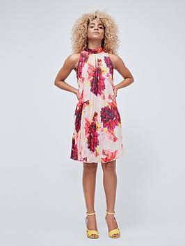 coast-simone-large-scale-floral-trapeze-dress-multi