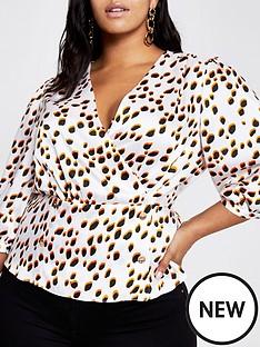 ri-plus-spot-print-blouse--white