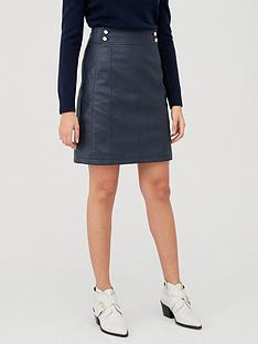 v-by-very-button-detail-pu-mini-skirt-navynbsp