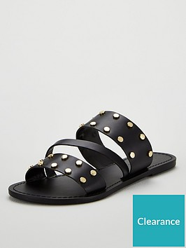 v-by-very-hop-leather-wide-fit-studded-flat-sandals