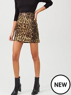 v-by-very-pu-printed-mini-skirt-animal