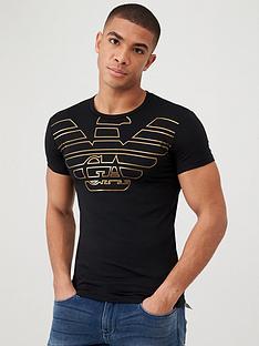emporio-armani-bodywear-emporio-armani-gold-eagle-logo-slim-fit-t-shirt