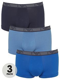 emporio-armani-bodywear-three-pack-eagle-waistband-trunks-blackblue