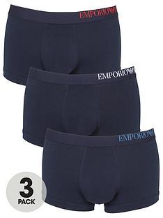 emporio-armani-bodywear-three-pack-side-logo-trunks-navy