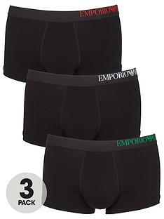 emporio-armani-bodywear-three-pack-side-logo-trunks-black