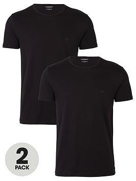 emporio-armani-bodywear-two-pack-cotton-regular-fit-t-shirts-black