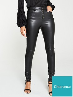 v-by-very-faux-leather-button-front-trousers-black