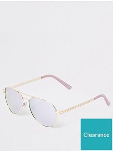river-island-river-island-mirror-lens-aviator-sunglasses-gold