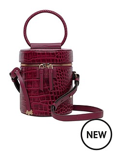 radley-magpie-lane-hoop-handle-drum-faux-croc-cross-body-bag-merlot