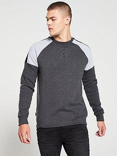 gym-king-core-plus-crew-neck-sweater-charcoal