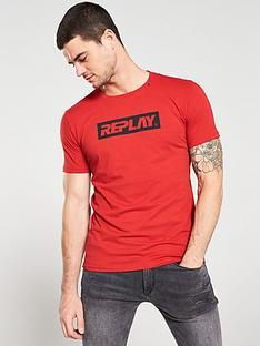replay-archive-block-logo-t-shirt-red