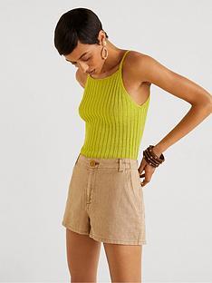 mango-linen-mix-two-pocket-shorts-medium-brown