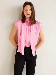 mango-satin-high-neck-tie-back-blouse