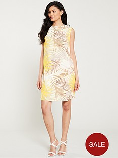wallis-soft-palm-hotfix-pinny-dress-lemon
