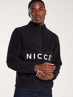 nicce-corto-half-zip-fleece-black