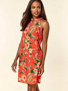 wallis-wallis-petite-floral-bird-halter-neck-dress