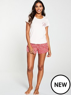 v-by-very-mon-amour-short-pj-set-red-pink