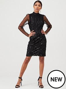 yas-ava-sequin-dress-black