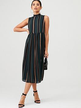 yas-eva-stripe-midi-dress-green