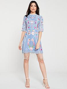 frock-and-frill-gillian-embroiderednbspfringe-dress-blue