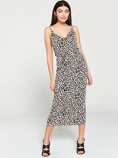 oasis-animal-cowl-midi-dress