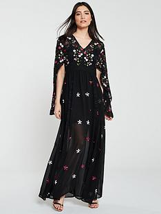 frock-and-frill-glenda-embroidered-maxi-dress-black