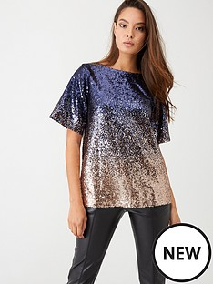 yas-kathy-ombre-sequin-top-blue