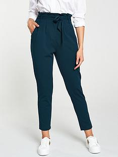 v-by-very-paperbag-tie-waist-trouser-teal