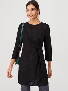v-by-very-waffle-twist-jersey-tunic-top-black