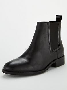 office-acorn-contrast-elastic-ankle-boots-black